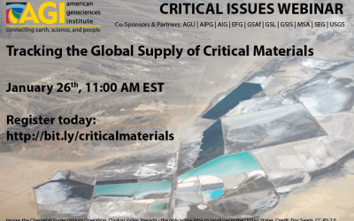"""Tracking the Global Supply of Critical Materials"" webinar is now available to watch"