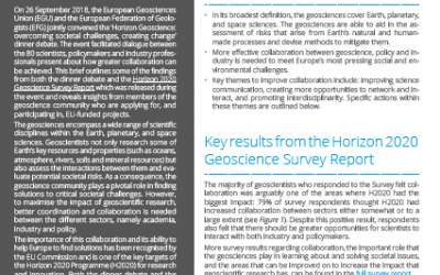 Increasing collaboration between geoscience, policy & industry