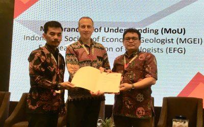EFG signs Memorandum of Understanding with Indonesian Society of Economic Geologists