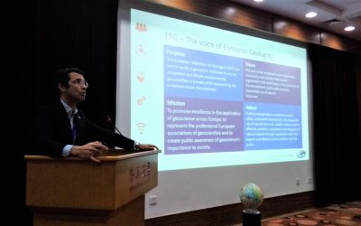 EFG President presents Annual Report to IUGS
