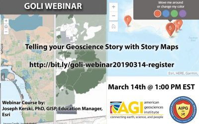 New GOLI webinar: Telling your Geoscience Story with Story Maps – 14 March 2019