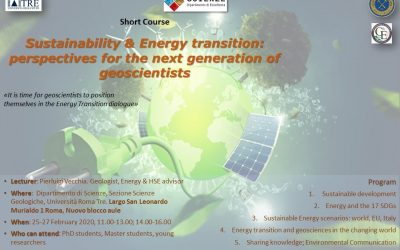 Sustainability and Energy transition: an opportunity for the next generation of geoscientists