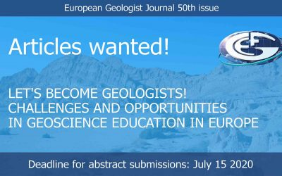 Call for articles: Challenges and opportunities in geoscience education in Europe