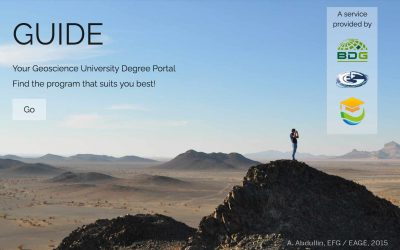 GUIDE Portal: Finding the geoscience programme that suits you best