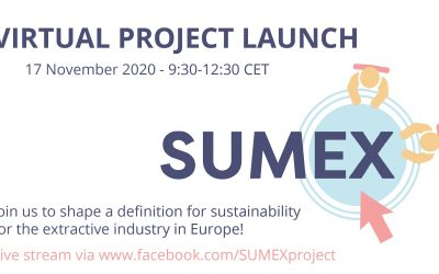SUMEX project: SUstainable Management in EXtractive industries