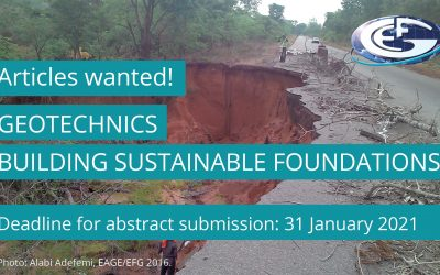 Extended deadline: Call for article proposals on geotechnics