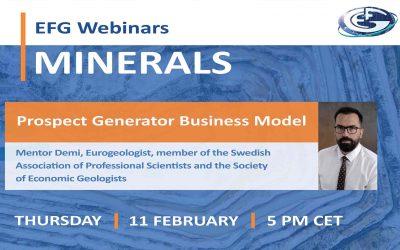 EFG Webinar on Minerals: Prospect Generator Business Model
