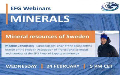 EFG Webinar: Mineral resources of Sweden