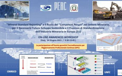 Workshop 'Mineral Standard Reporting and Competent Person' for Italian geologists