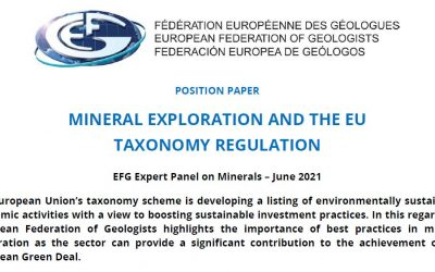 Mineral Exploration and the EU Taxonomy regulation